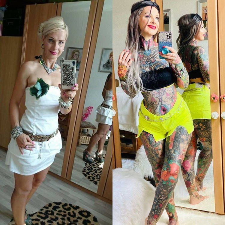 "Одержимая татуировками ""бабушка"""